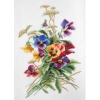 """""""Літні квіти"""" - Набір для вишивання хрестиком"""