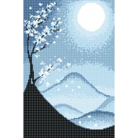 """Времена года. Зима"" - Схема для вышивки бисером"