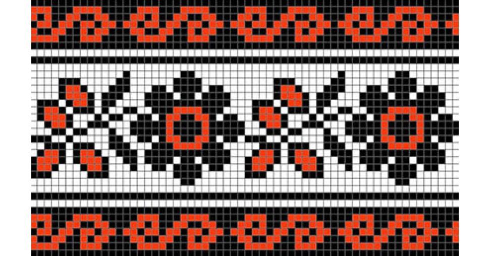 Украинский орнамент в вышивке