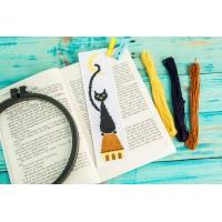 """""""Черный кот"""" - Закладка для книг"""