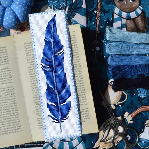 """Закладка для книг """"Синее перышко"""""""