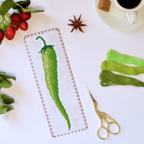 """Закладка для книг """"Зелений перець"""""""