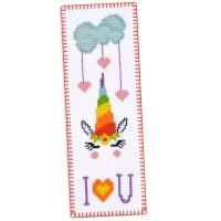 """""""Радужный единорог"""" - набор для вышивки закладки"""