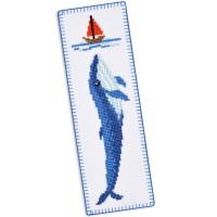 """""""Синий кит"""" - набор для вышивки закладки"""