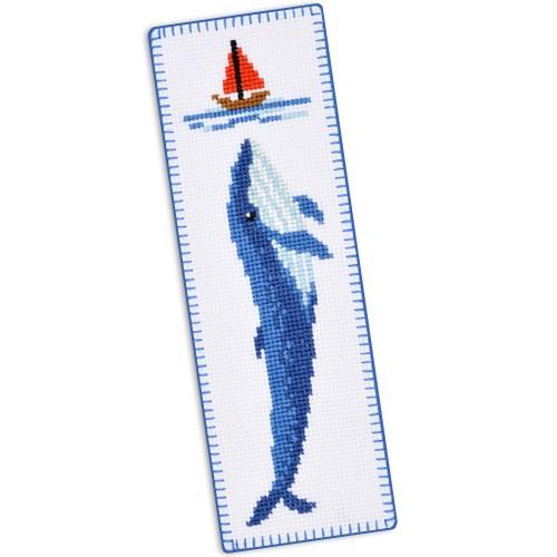 """Набір для вишивки закладки """"Синій кит"""""""