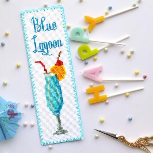 """Набір для вишивки закладки """"Блакитна лагуна"""""""