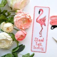 """""""Фламинго"""" - набор для вышивки закладки"""