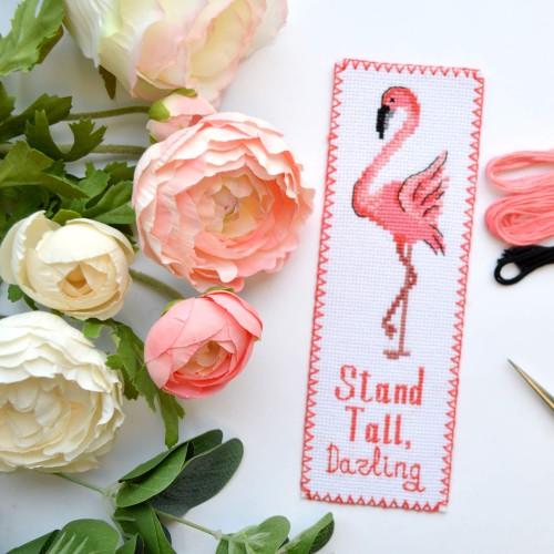 """Набор для вышивки закладки """"Фламинго"""""""