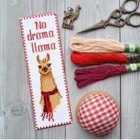"""""""No drama Llama"""" - набор для вышивки закладки"""
