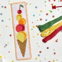 """""""Мороженое"""" - набор для вышивки закладки"""