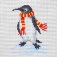 """Канва с нанесенным рисунком """"Пингвин"""""""