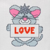 "Канва с нанесенным рисунком ""Love"""