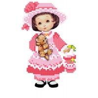 """""""Маленька леді"""" - Схема для вишивки бісером"""
