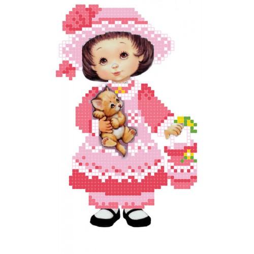"""Схема для вишивки бісером """"Маленька леді"""""""