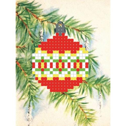 "Схема для вышивки бисером ""Новогодний шар"""