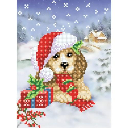 """Схема для вышивки бисером """"Новогодний пес"""""""