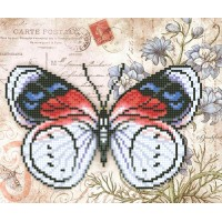 """""""Бабочка Француз"""" - Схема для вышивки бисером"""