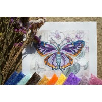 """""""Бузковий метелик"""" - Схема для вишивки бісером"""