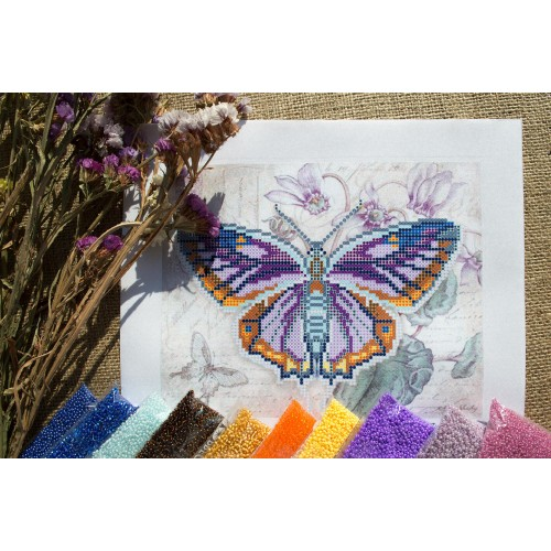 """Схема для вишивки бісером """"Бузковий метелик"""""""