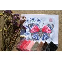 """""""Красно-синяя бабочка"""" - Схема для вышивки бисером"""