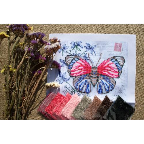 """Схема для вишивки бісером """"Червоно-синій метелик"""""""