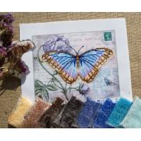 """""""Голубая бабочка"""" - Схема для вышивки бисером"""