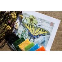 """""""Жовтий метелик"""" - Схема для вишивки бісером"""