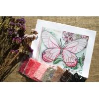 """""""Білий метелик"""" - Схема для вишивки бісером"""