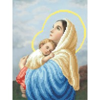 """""""Дева Мария с младенцем"""" - Схема для вышивки бисером"""