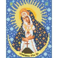 """""""Божа Матір Остробрамська А5"""" - Схема для вишивки бісером ікони"""