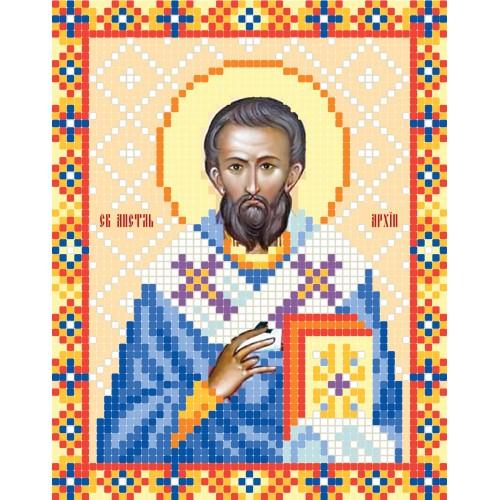 """Схема для вышивки бисером иконы """"Святой апостол Архипп"""""""