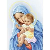 """""""Дева Мария с дитям"""" - Схема для вышивки бисером"""