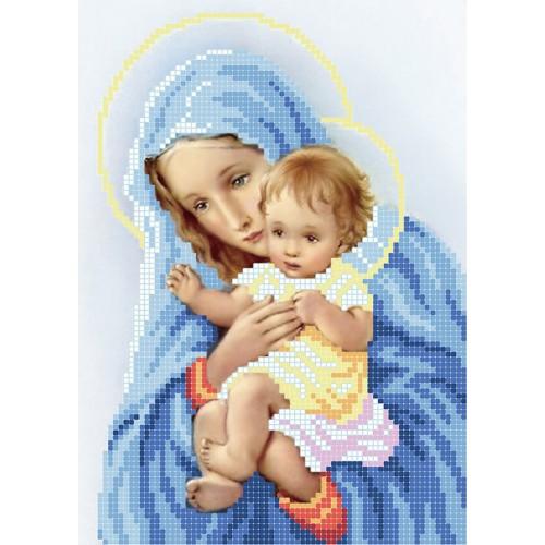 """Схема для вышивки бисером """"Дева Мария с дитям"""""""