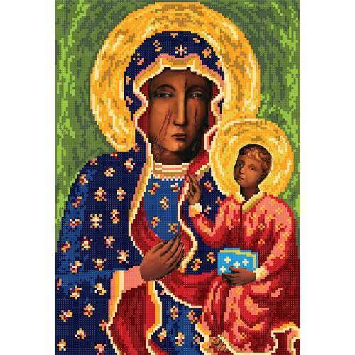"""Схема для вишивки бісером ікони """"Ченстоховська Божа Матір"""""""