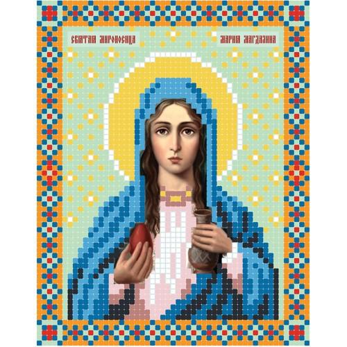 """Схема для вышивки бисером иконы """"Святая мироносица Мария Магдалина"""""""