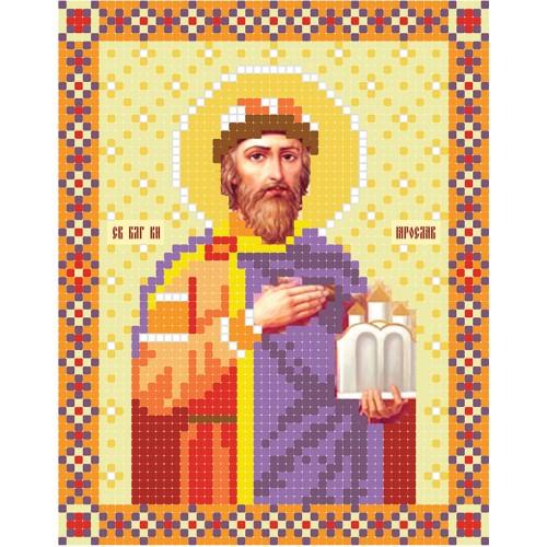 """Схема для вышивки бисером иконы """"Святой благоверный князь Ярослав"""""""