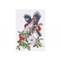 """""""Птица в шиповнике"""" - Набор для вышивки крестом"""