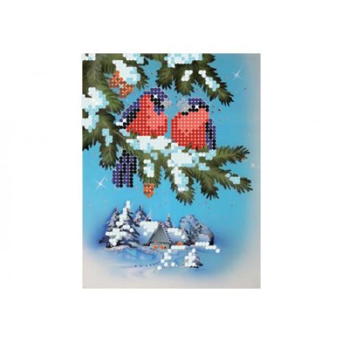 """Схема для вышивки бисером """"Снегири"""""""
