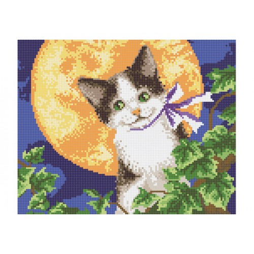 """Схема для вышивки бисером """"Лунный кот"""""""