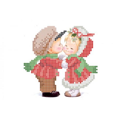 """Схема для вышивки бисером """"Новогодний поцелуй"""""""