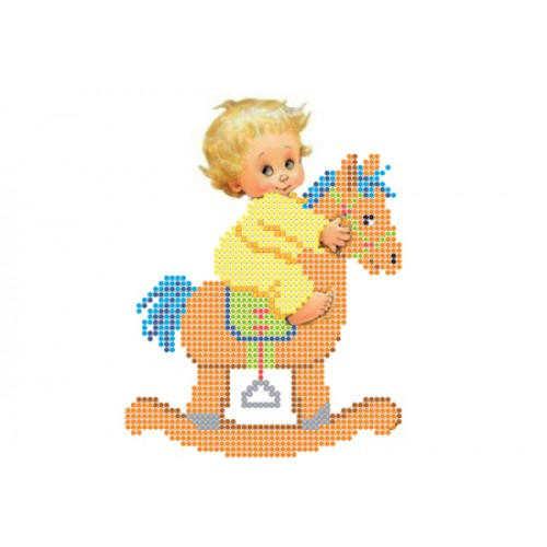 """Схема для вышивки бисером """"На лошадке"""""""