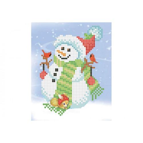 """Схема для вышивки бисером """"Снеговик"""""""