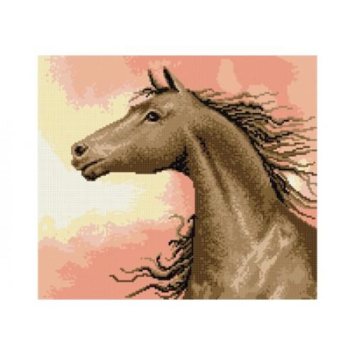 """Схема для вышивки бисером """"Конь на восходе"""""""