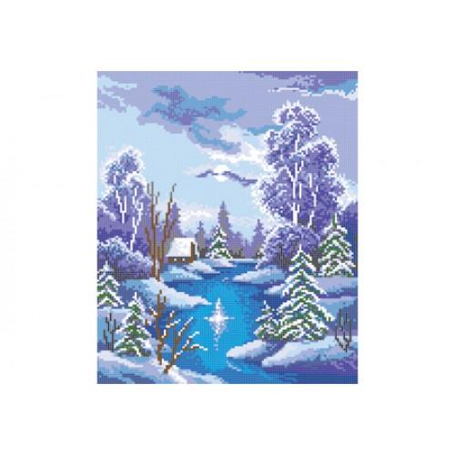 """Схема для вишивки бісером """"Зимова ніч"""""""