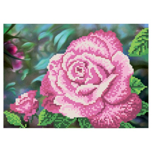 """Схема для вишивки бісером """"Королева саду рожева"""""""