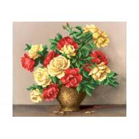 """""""Букет троянд"""" - Схема для вишивки бісером"""