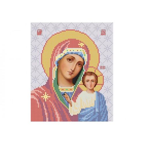 """Схема для вишивки бісером ікони """"Божа матір Казанська"""""""