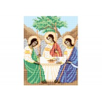 """""""Святая Троица"""" - Схема для вышивки бисером иконы"""