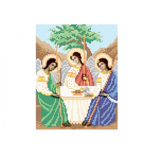 """Схема для вышивки бисером иконы """"Святая Троица"""""""