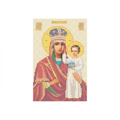 """Схема для вишивки бісером ікони """"Божа матір Призри на смирение"""""""